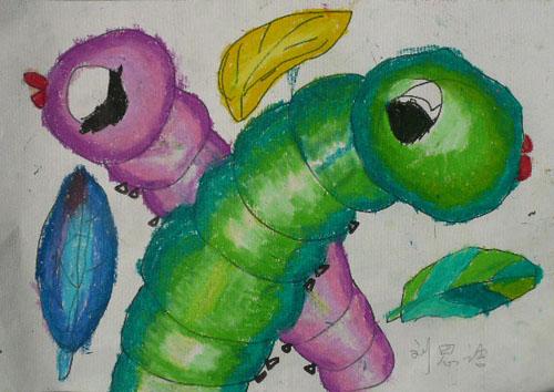 腊笔画《毛毛虫》图片
